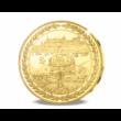 // koronázási érem  35 g  46 mm  aranyozott //Mátyás király koronázási érem az 555. évfordulóra