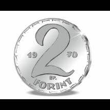 Színezüst 2 forint, Kádár-korszak, 1970, utánveret
