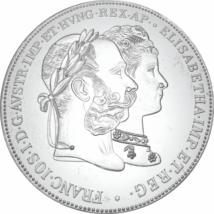 Ferenc József és Sissi - házassági 2 florin UV