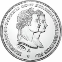// 1 florin utánveret, Eljegyzési 1 florin ezüstözött rézötvözet, utánveret, másolat, nem pénz, replica, no coin