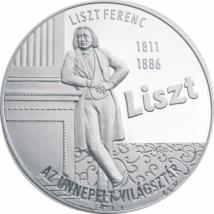 Liszt Ferenc, az ünnepelt világsztár, emlékérmen