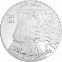 Liszt Ferenc, a magyar világpolgár, emlékérmen
