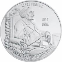 Liszt Ferenc, a keresztény gondolkodó, emlékérmen