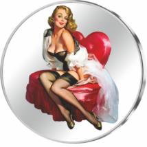 // színezüst érem, Február - Légy a Valentinom!, színezüst érem, 999-es színezüst, ,  // Különleges ajándék Valentin napra! Lepje meg Ön is szerelmét egyedi színezüst éremmel!  Szerezzen örömöt szerelmének egyedi és értékes ajándékkal, most 25% kedvezménn