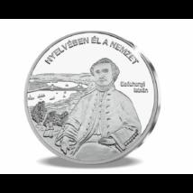 // színezüsttel bevont érem, gróf Széchenyi István - megőrült hazafi // Gróf Széchenyi István a legnagyobb magyar, Kossuth szerint. A haza felemelése, támogatása felemésztette egészségét, rabságban, megőrülve halt meg.