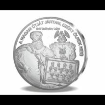 // színezüsttel bevont érem, gróf Batthyány Lajos - mártír miniszterelnök // Gróf Batthyány Lajos az első független magyar kormány miniszterelnöke. Az aradi vértanúkkal egy időben végezték ki Pesten.