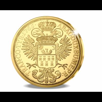 // eredeti érme 12 dukát, Aranyóriás Erdélyből, aranyozott rézötvözet, utánveret, másolat, nem pénz, replica, no coin