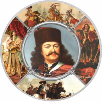 II. Rákóczi Ferenc, ezüstözött emlékérem
