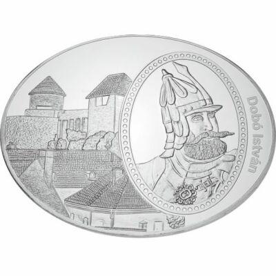 ovális emlékérem, Dobó István - Egri vár, tükörveret, ,