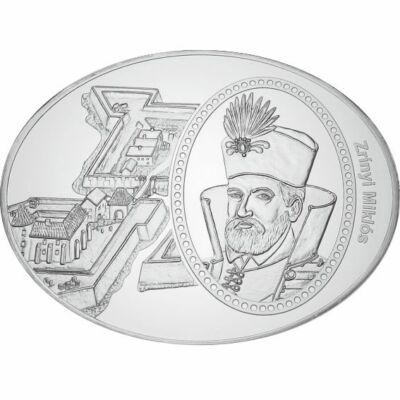 ovális emlékérem, Zrínyi Miklós - Szigetvári vár, tükörveret, ,