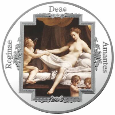 Antonio da Correggio: Danaé, festett, ezüstözött érem