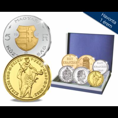 Szabadságharcos forgalmi sor, 1848-49, utánveret, másolat, nem pénz, replica, no coin
