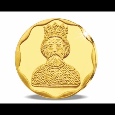 Történelmünk aranykincsei: Szent László herma, színarany érem, nem pénz